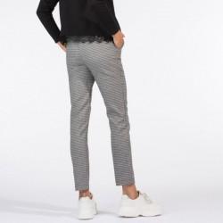 Pantalón pitillo minicuadro Tiffosi
